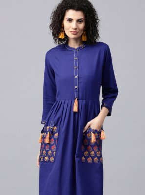 Blue Color Casual Kurti