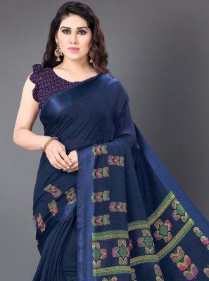 Blue Color Casual Saree