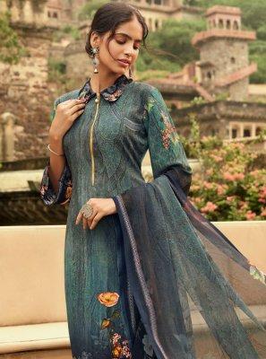 Blue Color Designer Palazzo Salwar Suit