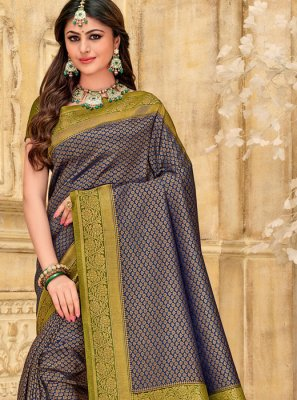Blue Color Designer Saree