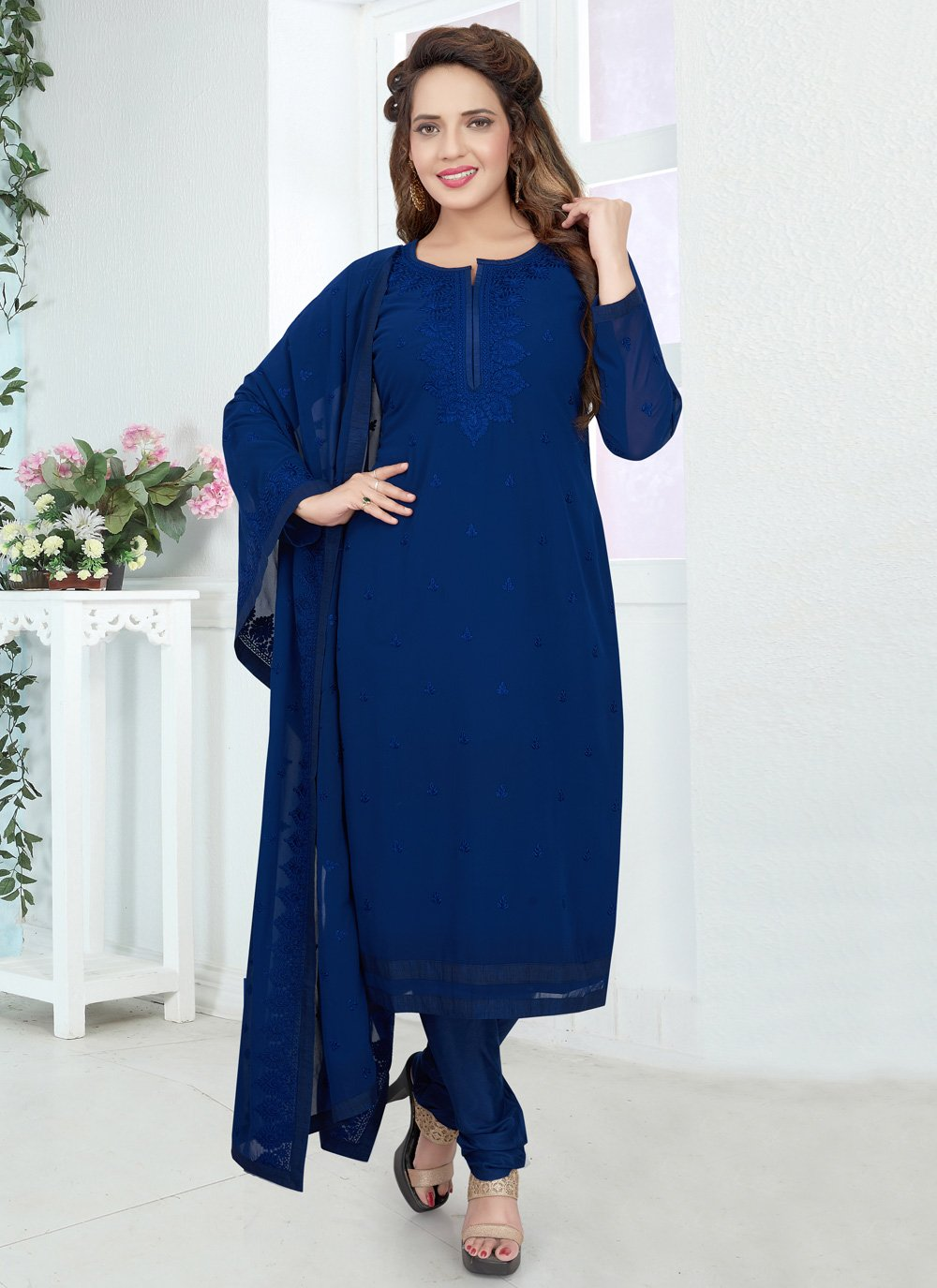Blue Color Salwar Kameez