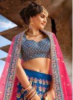 Blue Color Trendy Lehenga Choli