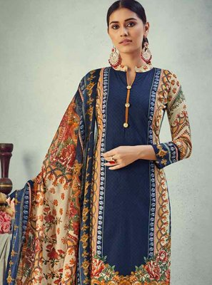 Blue Cotton Bollywood Salwar Kameez