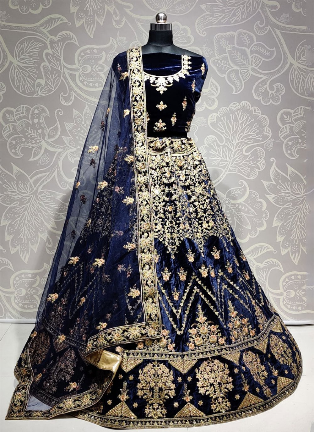 Blue Diamond A Line Lehenga Choli