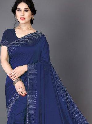 Blue Fancy Saree