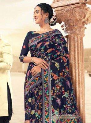 Blue Festival Designer Contemporary Style Saree