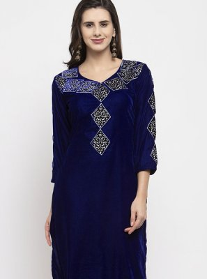Blue Festival Readymade Salwar Suit
