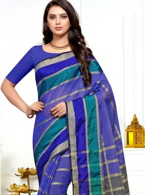 Blue Festival Saree
