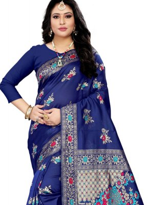 Blue Festival Trendy Saree