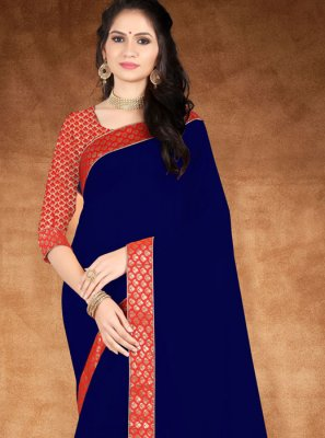 Blue Lace Designer Saree