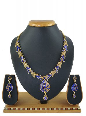 Blue Mehndi Necklace Set