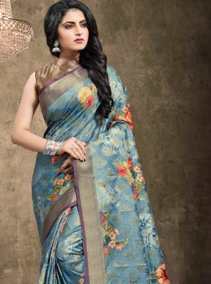 Blue Party Classic Designer Saree