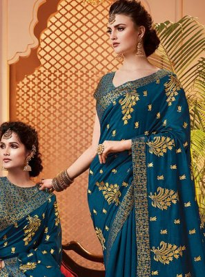 Blue Party Classic Saree