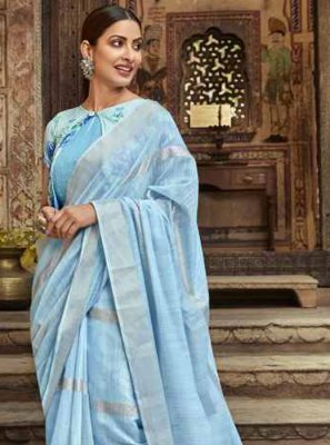 Blue Party Cotton Casual Saree