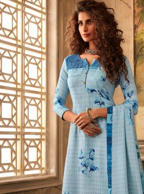 Blue Party Designer Palazzo Salwar Suit