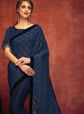 Blue Party Designer Saree