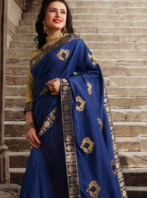 Blue Party Designer Traditional Saree