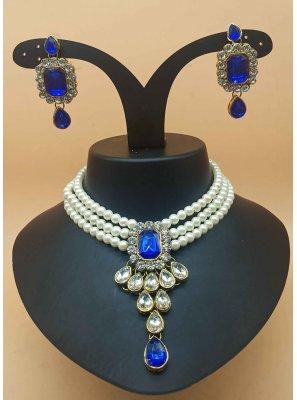 Blue Party Necklace Set