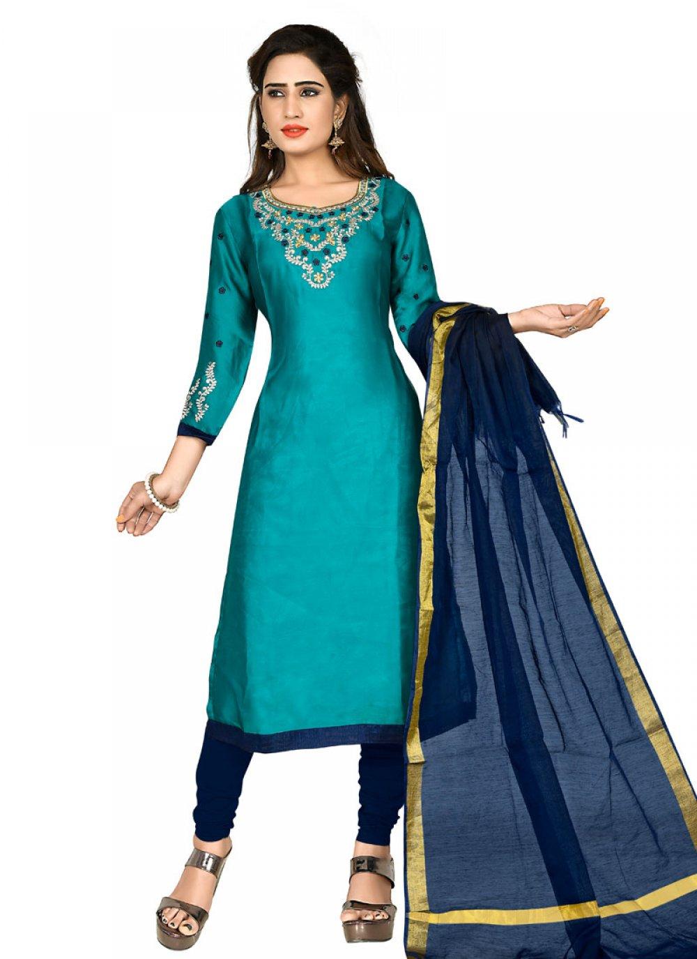 Blue Party Salwar Kameez