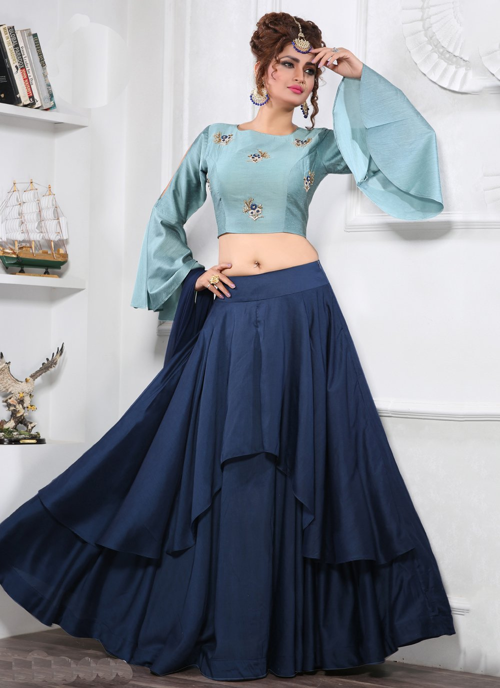 Blue Party Trendy Lehenga Choli