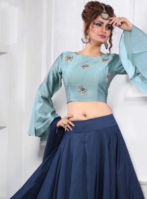 Blue Party Trendy Lehenga Choli
