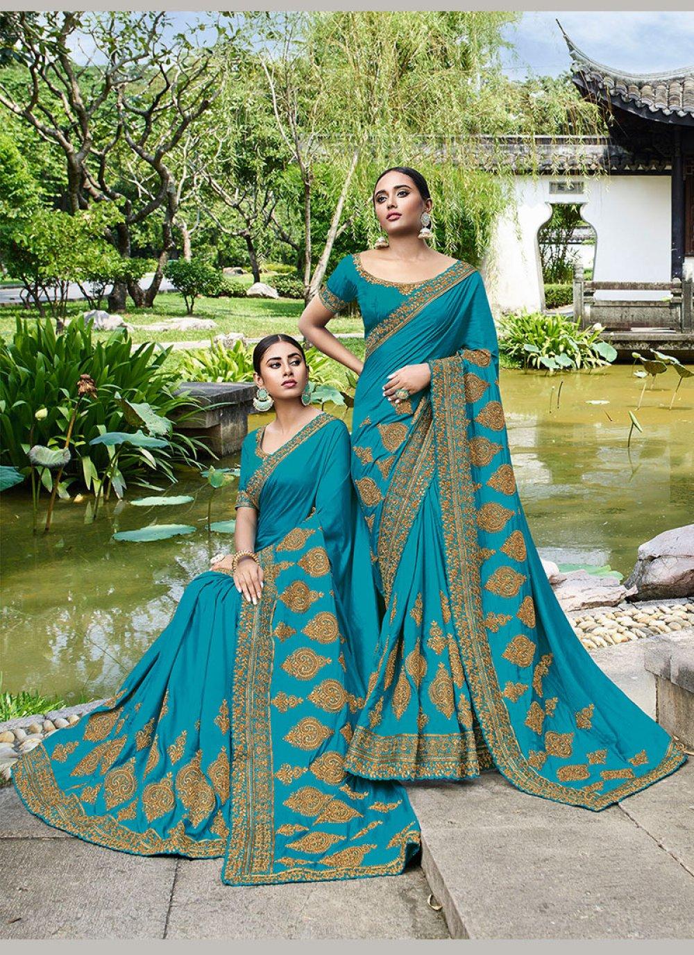 Blue Party Trendy Saree