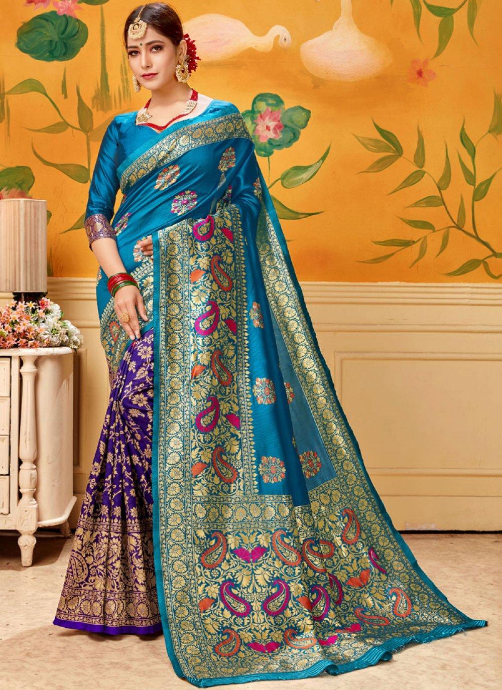 Blue Print Casual Saree
