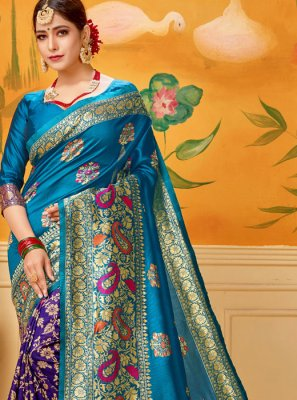 Blue Print Casual Saree