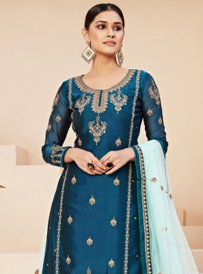 Blue Rangoli Trendy Salwar Suit