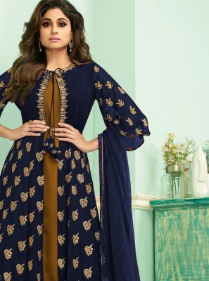 Blue Reception Salwar Kameez