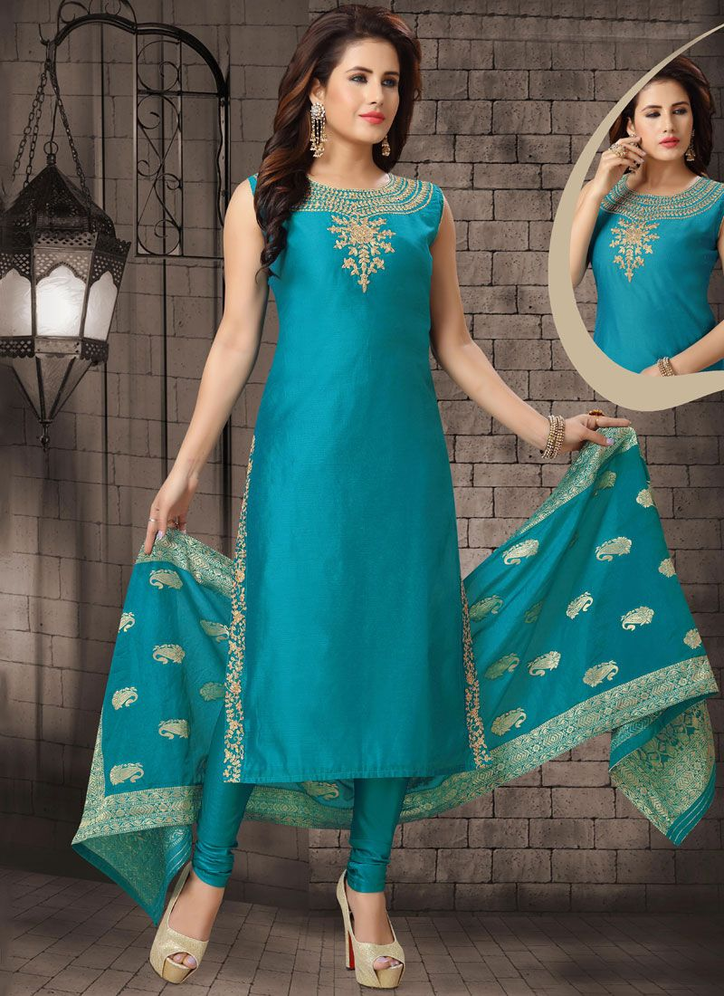 Blue Reception Salwar Suit