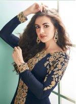 Blue Reception Salwar Suit