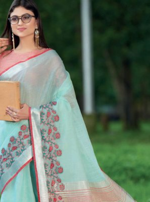 Blue Sangeet Classic Saree