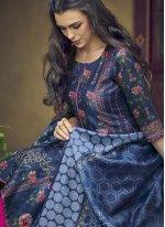 Blue Silk Designer Salwar Suit