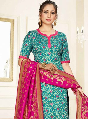 Blue Silk Festival Salwar Suit