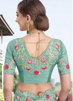 Blue Silk Trendy Saree