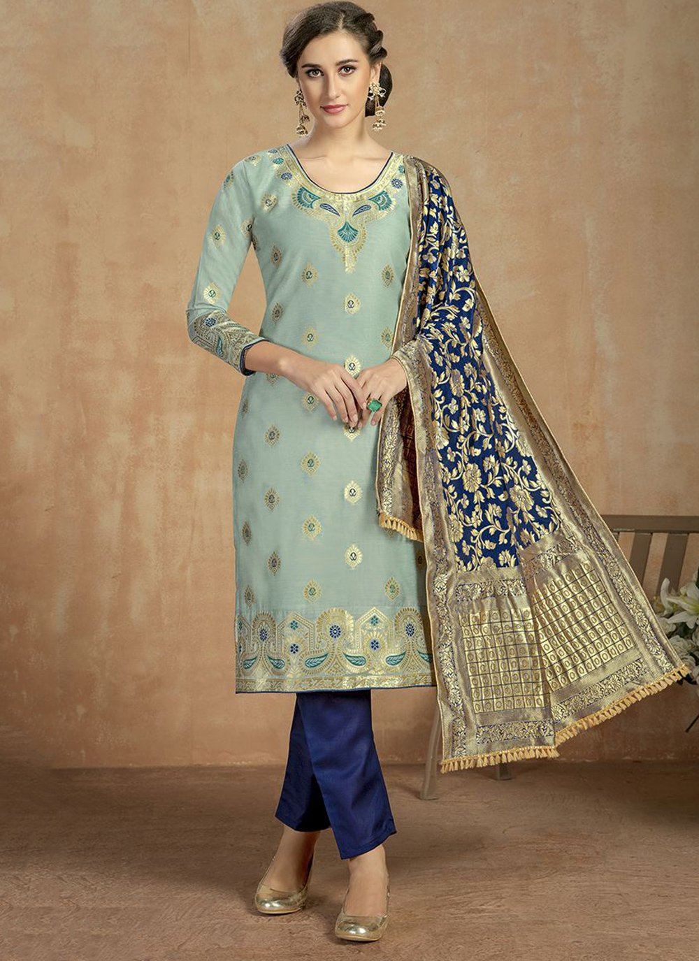 Blue Thread Salwar Suit