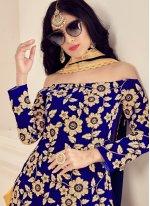 Blue Trendy Patila Salwar Suit