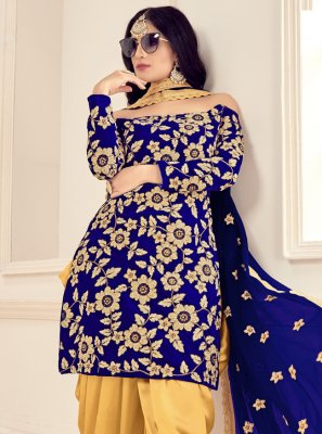 Blue Trendy Patila Salwar Suit