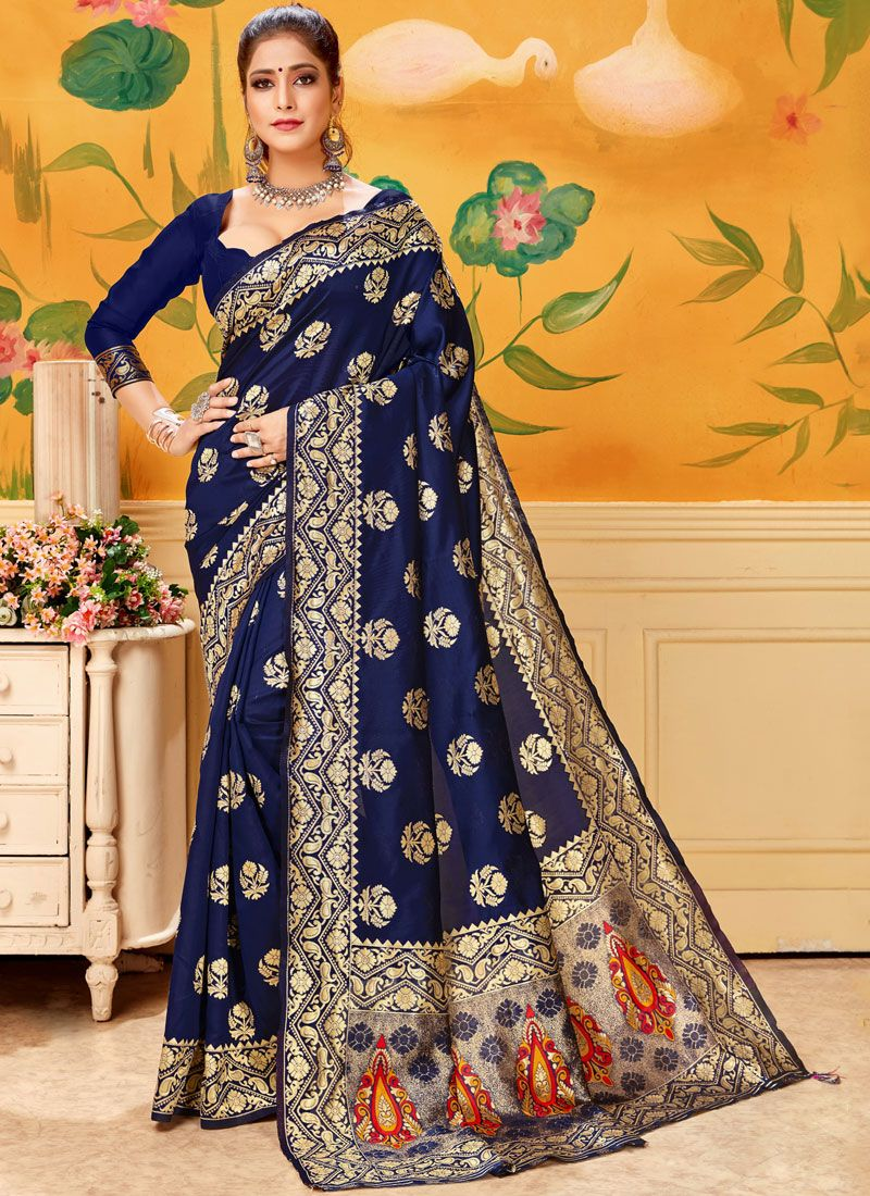 Blue Trendy Saree