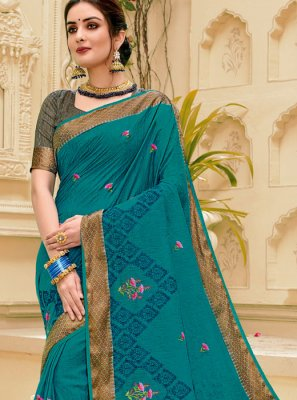 Blue Weaving Classic Designer Saree
