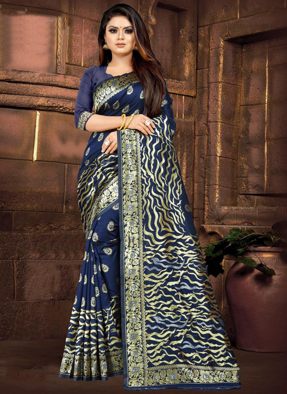 Blue Weaving Festival Casual Saree