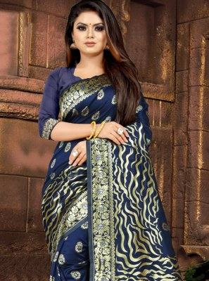 Blue Weaving Festival Casual Saree