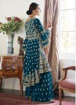 Blue Wedding Designer Salwar Kameez