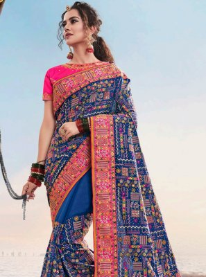 Blue Wedding Designer Saree