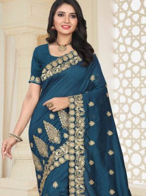 Blue Wedding Traditional Designer Saree