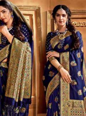 Blue Wedding Trendy Saree