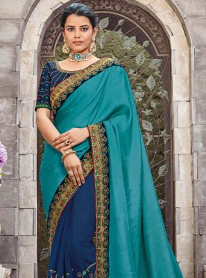 Blue Zari Designer Saree