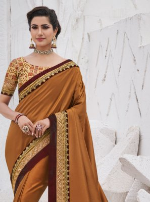 Border Brown Silk Traditional Saree