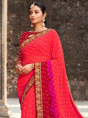 Border Multi Colour Trendy Saree